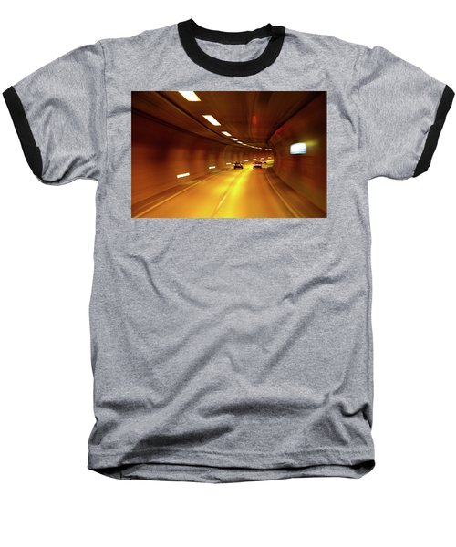 Baseball T-Shirt featuring the photograph Swiss Alpine Tunnel by KG Thienemann