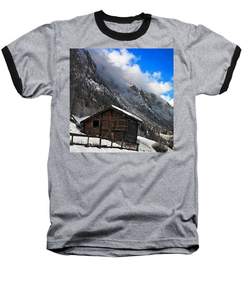 Swiss Barn Baseball T-Shirt