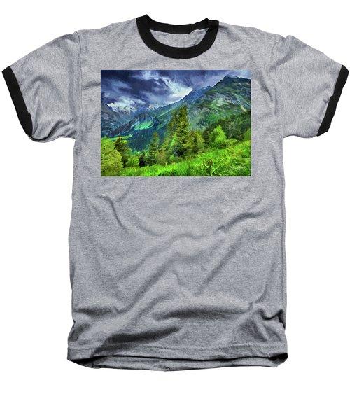 Swiss Countryside Baseball T-Shirt