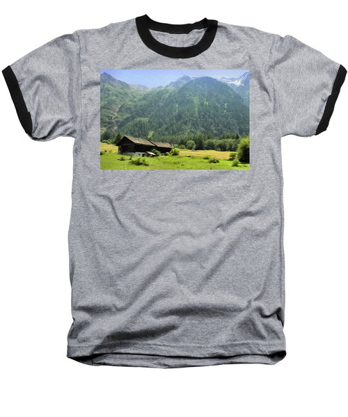 Swiss Mountain Home Baseball T-Shirt