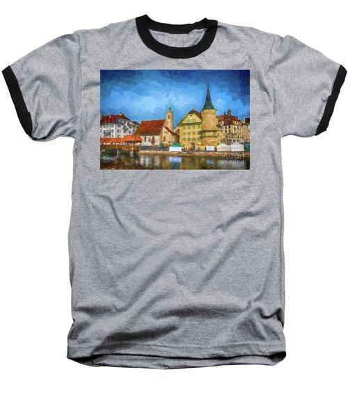 Swiss Town Baseball T-Shirt