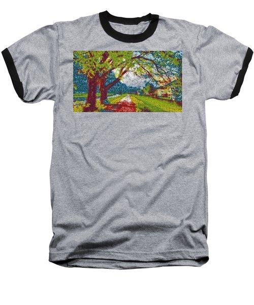 Swiss Village Stroll Baseball T-Shirt