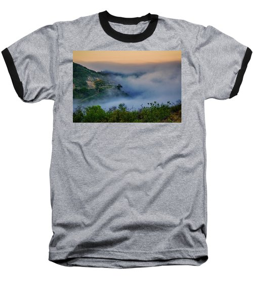 Baseball T-Shirt featuring the photograph Switchbacks In The Clouds by Joseph Hollingsworth