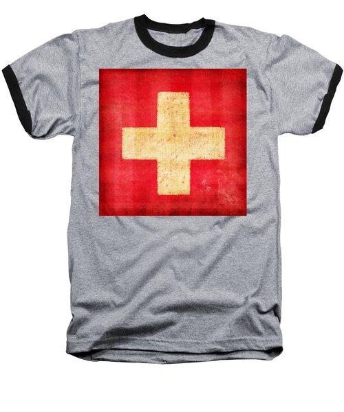 Switzerland Flag Baseball T-Shirt by Setsiri Silapasuwanchai