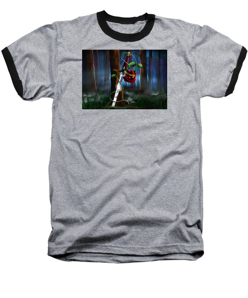 Sword And Rose Baseball T-Shirt