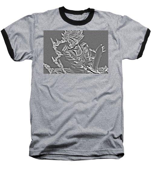 Baseball T-Shirt featuring the digital art Sword Rush Trunks by Ray Shiu