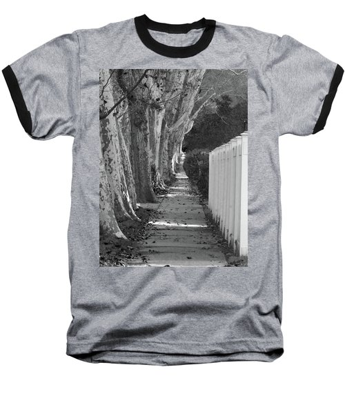 Sycamore Walk-grayscale Version Baseball T-Shirt
