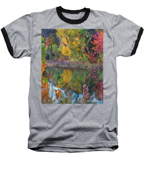 Sycamores And Willows Baseball T-Shirt by Tim Fitzharris