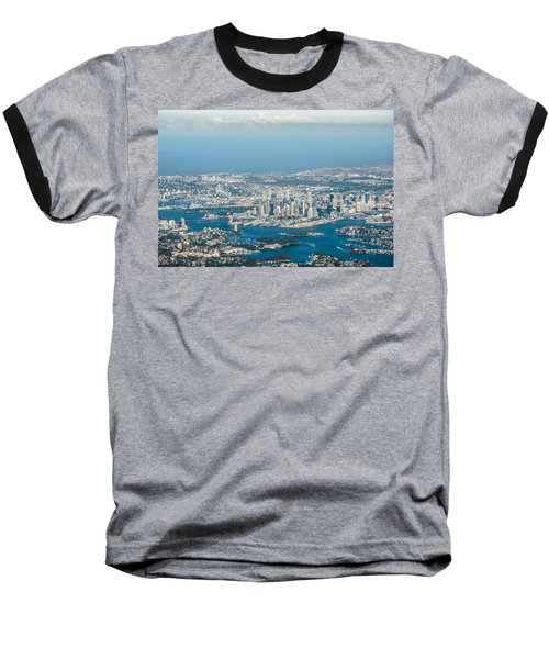 Sydney From The Air Baseball T-Shirt by Parker Cunningham