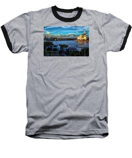 Sydney Harbor And Opera House Baseball T-Shirt
