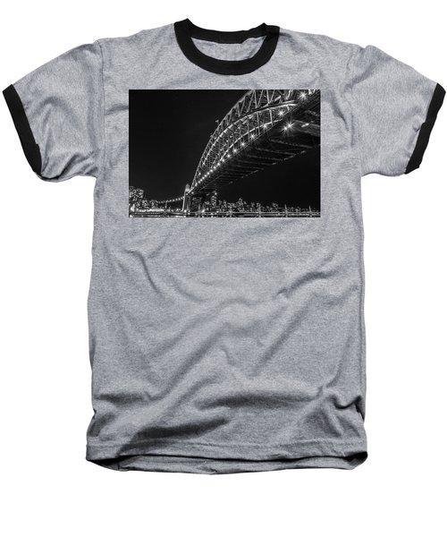 Sydney Harbour Bridge At Night Baseball T-Shirt