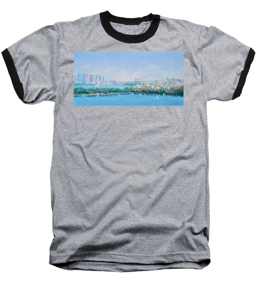 Sydney Harbour Bridge - Sydney Opera House - Sydney Harbour Baseball T-Shirt by Jan Matson