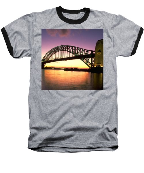 Sydney Harbour Bridge Baseball T-Shirt by Travel Pics