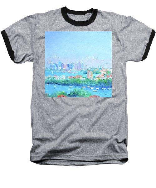 Sydney Harbour Impression Baseball T-Shirt