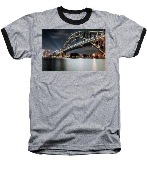 Sydney Harbour Lights Baseball T-Shirt
