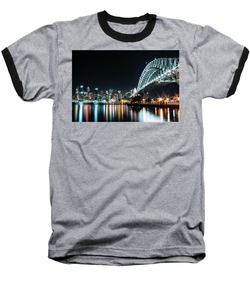 Sydney Harbour Sparkle Baseball T-Shirt