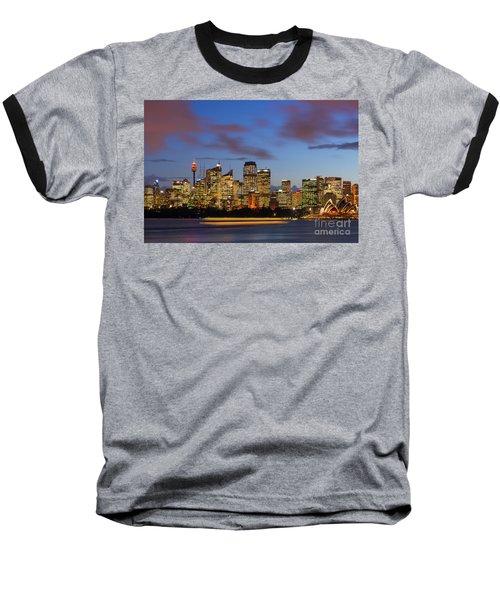 Sydney Harbour Sunset Baseball T-Shirt