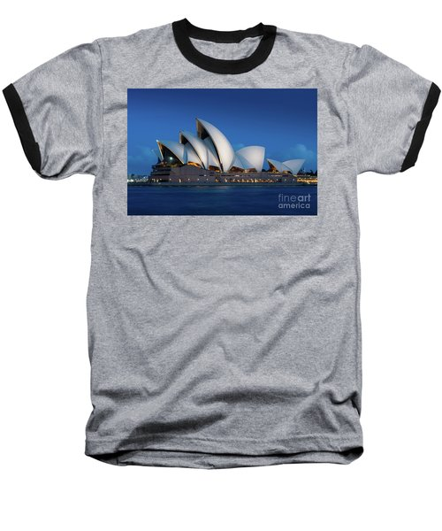 Sydney Opera House After Dark Baseball T-Shirt