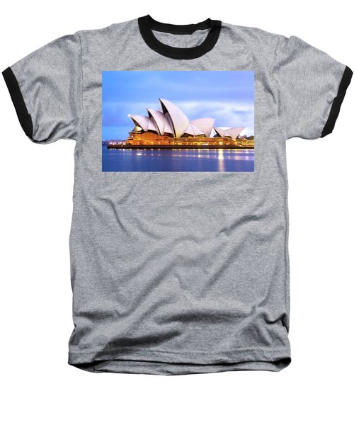 Sydney Opera House At Dawn Baseball T-Shirt