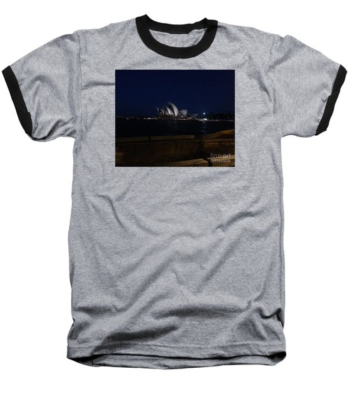 Sydney Opera House At Night Baseball T-Shirt by Bev Conover