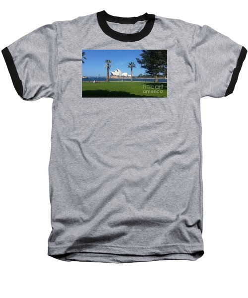 Sydney Opera House  Baseball T-Shirt by Bev Conover