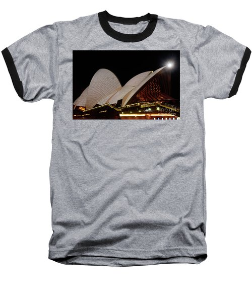 Baseball T-Shirt featuring the photograph Sydney Opera House Close View 2 By Kaye Menner by Kaye Menner