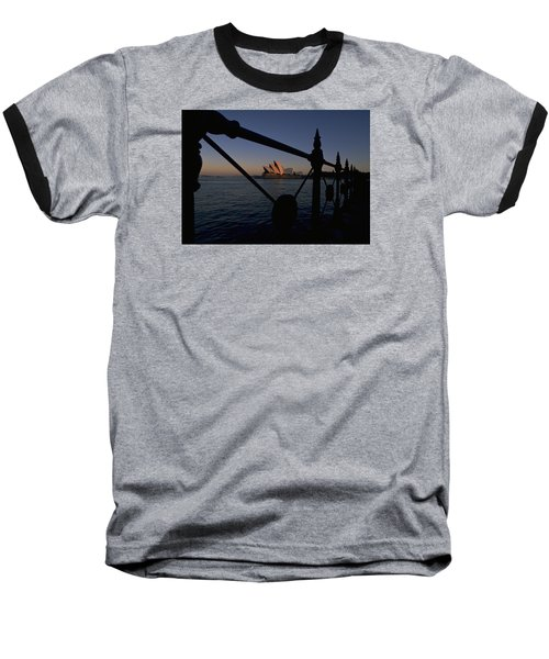 Sydney Opera House Baseball T-Shirt by Travel Pics