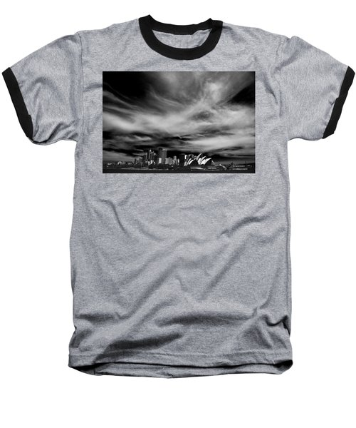 Sydney Skyline With Dramatic Sky Baseball T-Shirt by Avalon Fine Art Photography