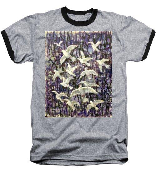 Symbol  Of Peace Baseball T-Shirt by Laila Awad Jamaleldin