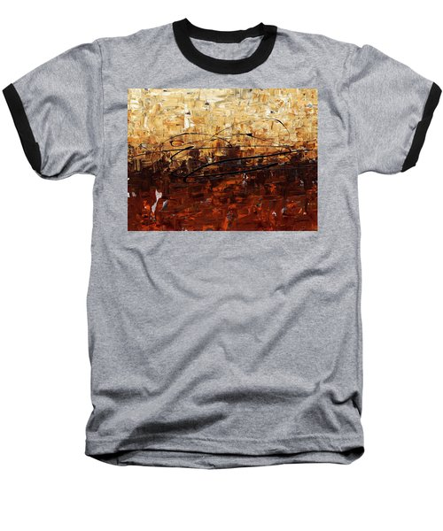 Baseball T-Shirt featuring the painting Symphony by Carmen Guedez