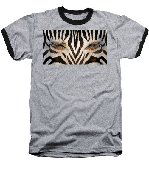 Synthetic Zebra Baseball T-Shirt