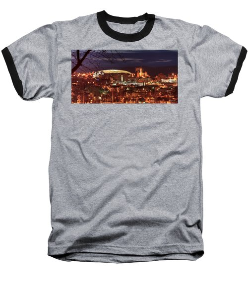 Syracuse Dome At Night Baseball T-Shirt by Everet Regal