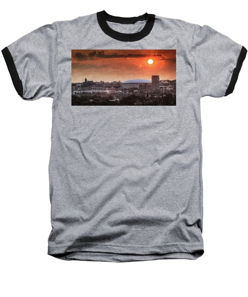Syracuse Sunrise Over The Dome Baseball T-Shirt by Everet Regal