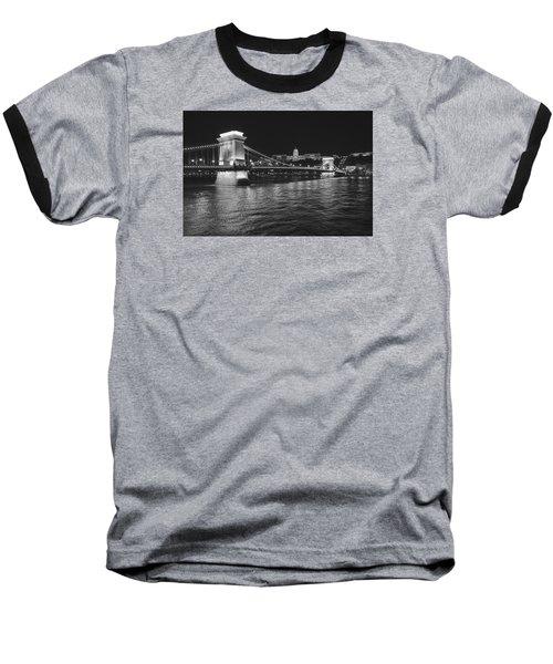 Szechenyi Chain Bridge Budapest Baseball T-Shirt