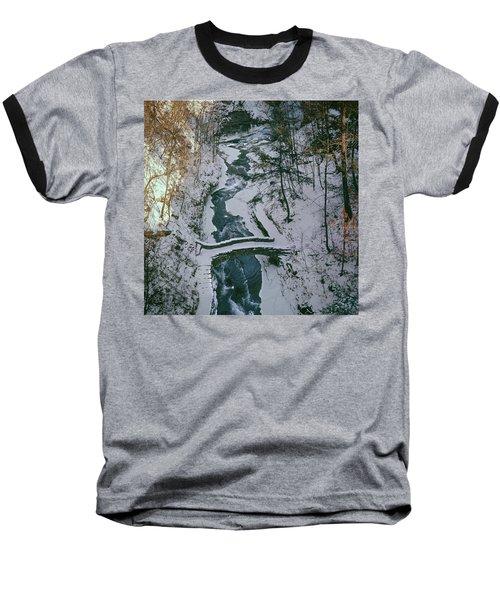 T-31501 Gorge On Cornell University Campus Baseball T-Shirt