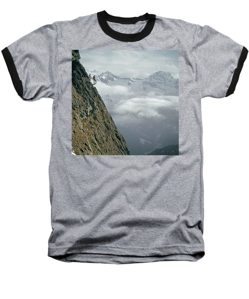 T-404101 Climbers On Sleese Mountain Baseball T-Shirt