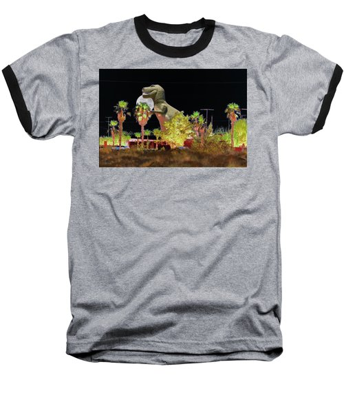 T-rex In The Desert Night Baseball T-Shirt