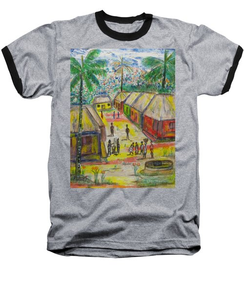 Baseball T-Shirt featuring the painting Artwork On T-shirt - 0012 by Mudiama Kammoh