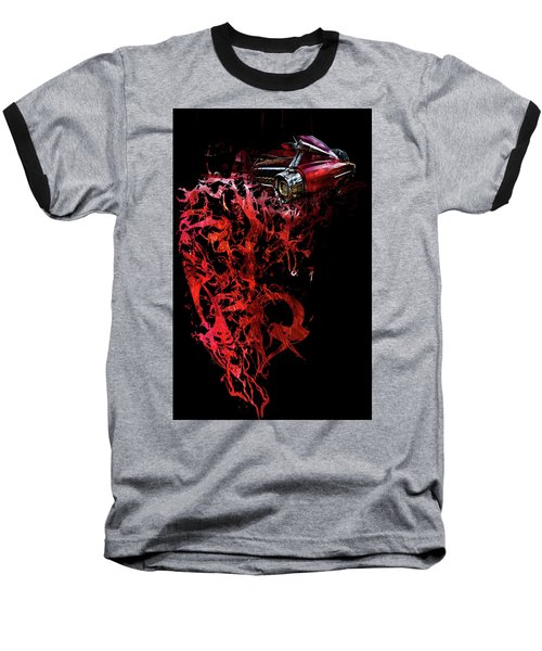 T Shirt Deconstruct Red Cadillac Baseball T-Shirt
