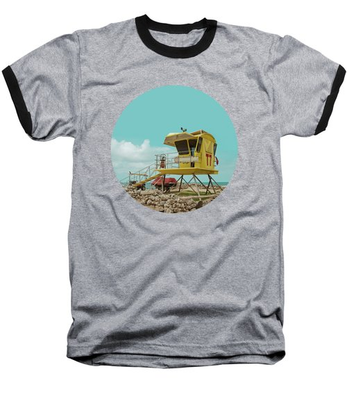 T7 Lifeguard Station Kapukaulua Beach Paia Maui Hawaii Baseball T-Shirt