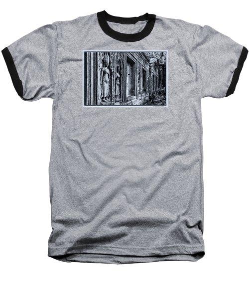 Baseball T-Shirt featuring the photograph Ta Phrom Cambodia by Kathy Adams Clark