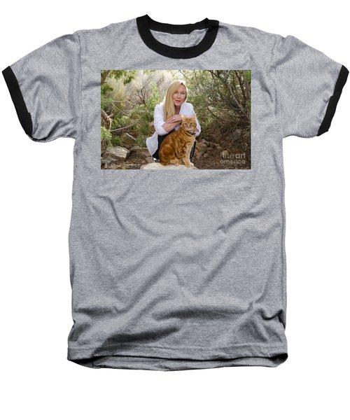 Tabasco And Molly On Meditation Rock Baseball T-Shirt
