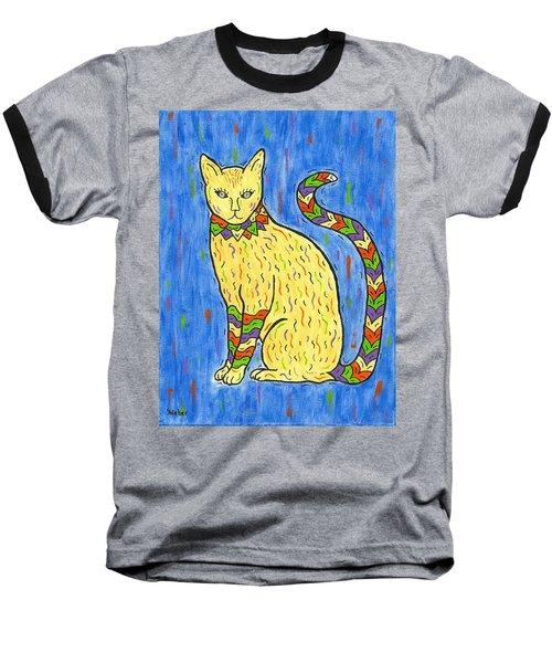 Tabby Kat Baseball T-Shirt by Susie WEBER