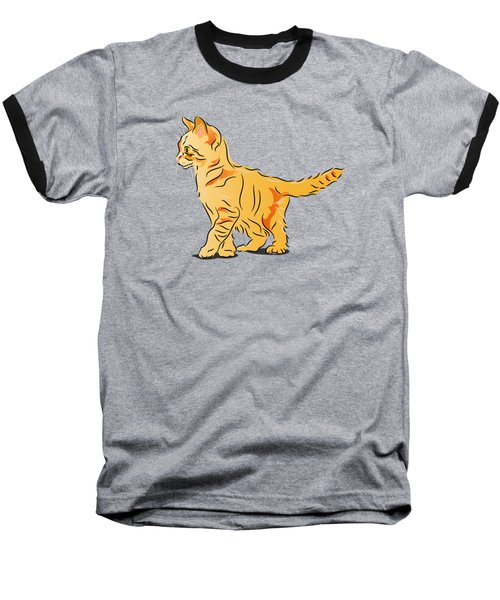 Tabby Kitten Baseball T-Shirt
