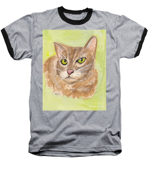 Tabby With Attitude Baseball T-Shirt by Terry Taylor