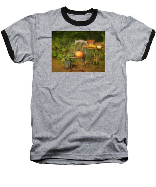 Table For One Baseball T-Shirt by Colleen Taylor
