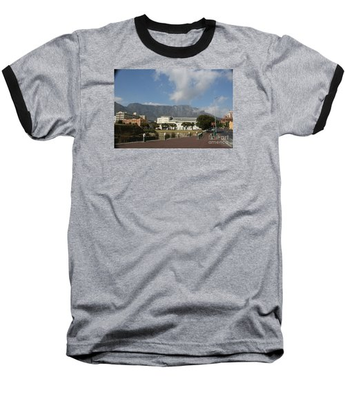Table Mountain, Capetown Baseball T-Shirt by Bev Conover