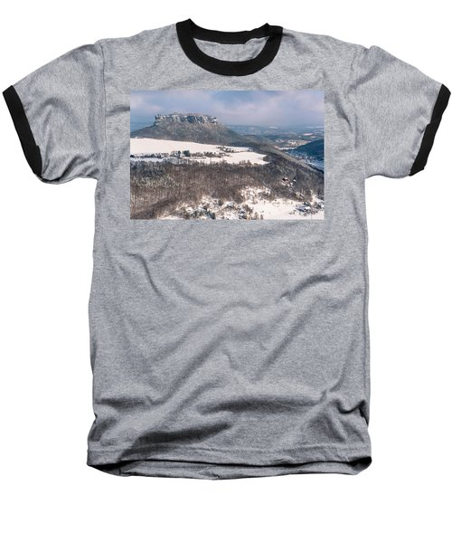 Baseball T-Shirt featuring the photograph Table Mountain Pfaffenstein. Saxony by Jenny Rainbow