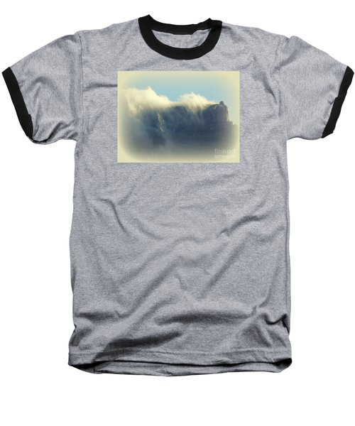 Table Rock With Cloud 2 Baseball T-Shirt by John Potts