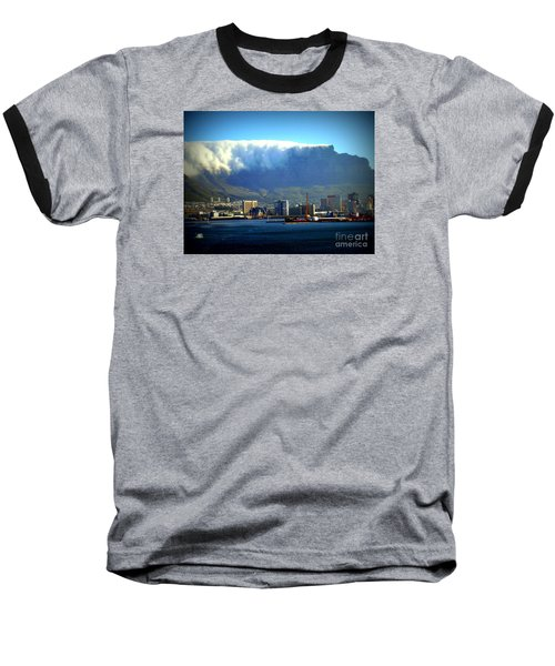 Table Rock With Cloud Baseball T-Shirt by John Potts